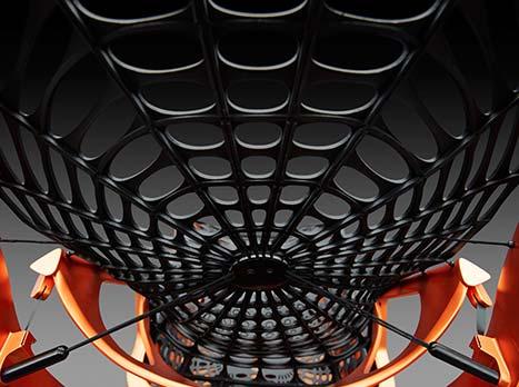 Een detail foto van een Lexus Kinetic Seat Concept