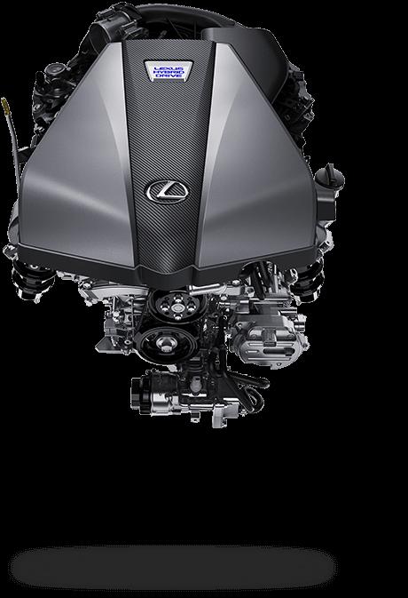 Dynamische motor van een Lexus LC 500 h