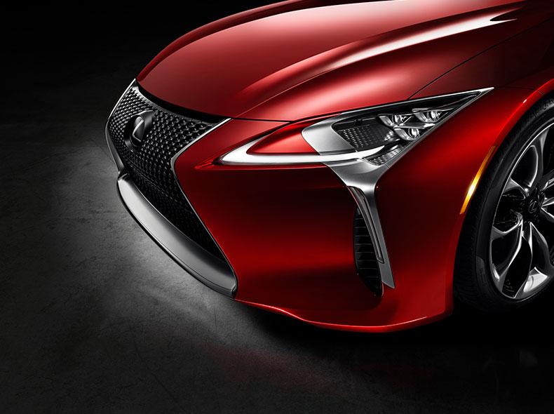 Zoom op design van een Lexus LC 500h