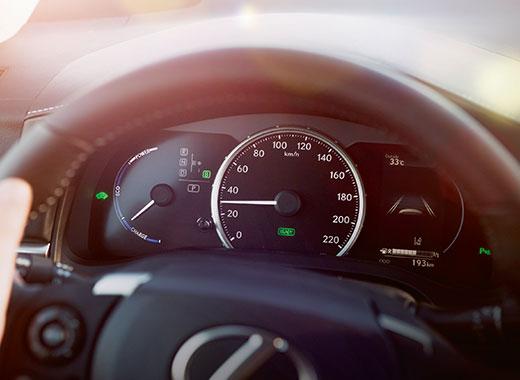 Het interieur van Lexus CT 200h met Safety System