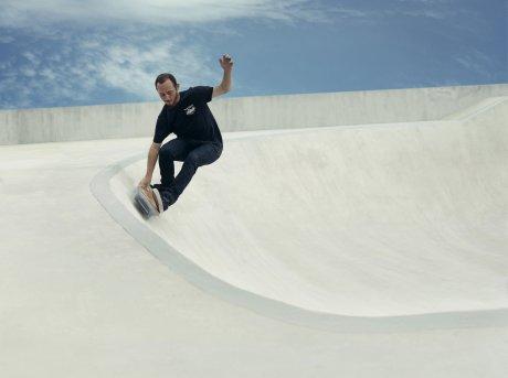 Lexus hoverboard in skatepark