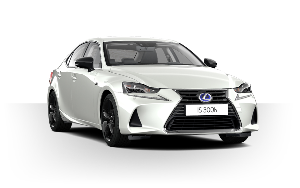 Een witte Lexus IS 300h Sport Edition