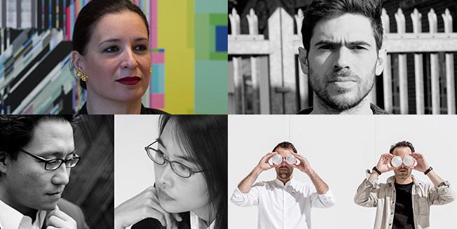 De vier mentoren van het deelnemers van de Lexus Design Awards 2017