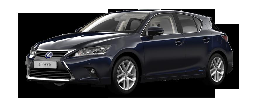 Lexus CT 200h Luxury Line zijkant donkerblauw