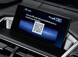Navigatiesysteem van een Lexus NX300h Sport Edition