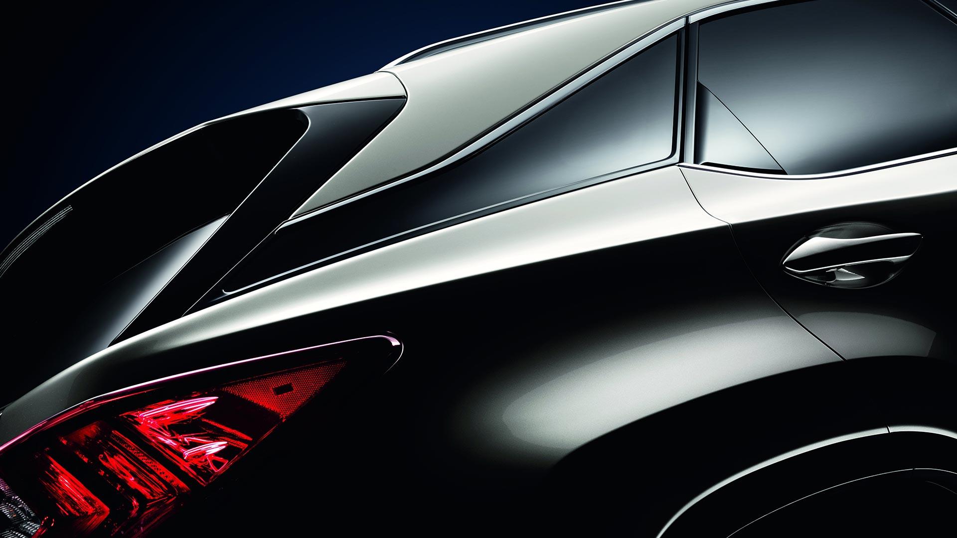 Detailfoto achterkant Lexus RX