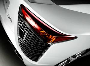 Achterkant detail Lexus LFA