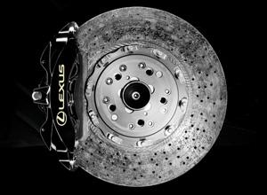 Detailfoto remschijf Lexus LFA