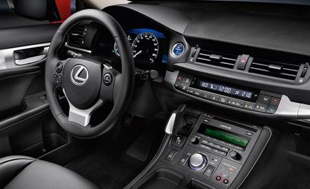 Interieur van een Lexus CT200h