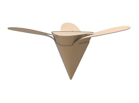 Drop Box maakt gebruik van aerodynamische principes om hulpgoederen en voedsel te droppen