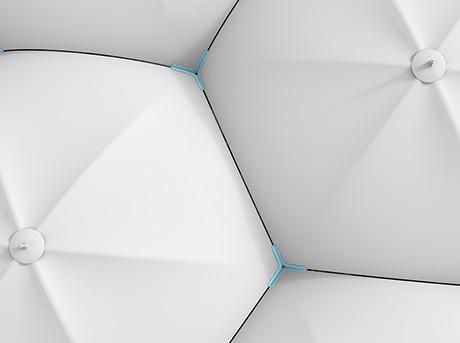Hexagon is een paraplu met magnetische delen die elkaar aantrekken