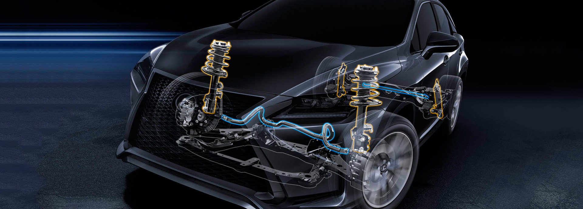 Service literatuur onderstel en schokdempers Lexus