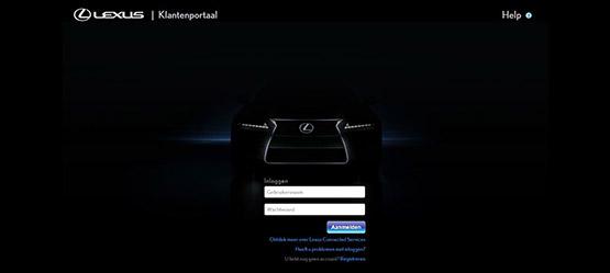 Lexus scherm van een navigatiesysteem