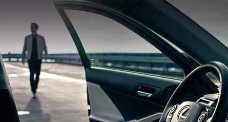 Het luxe interieur van een Lexus