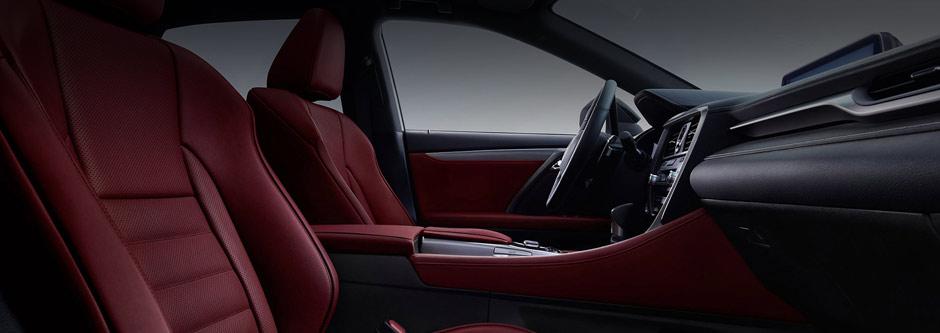 Het luxe lederen interieur van een Lexus