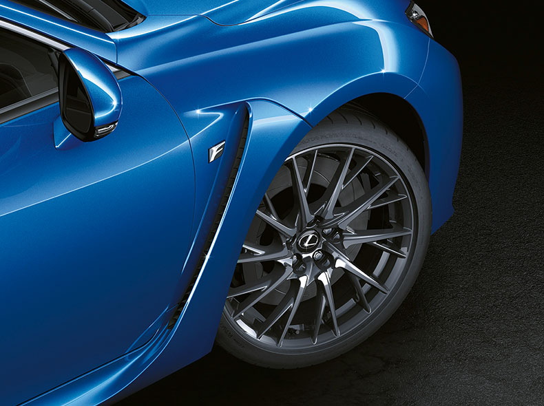 Detail blauwe RC F