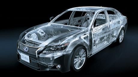 Service literatuur technisch beeld van een Lexus