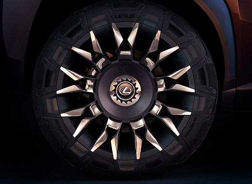 Wiel van een Lexus UX Concept