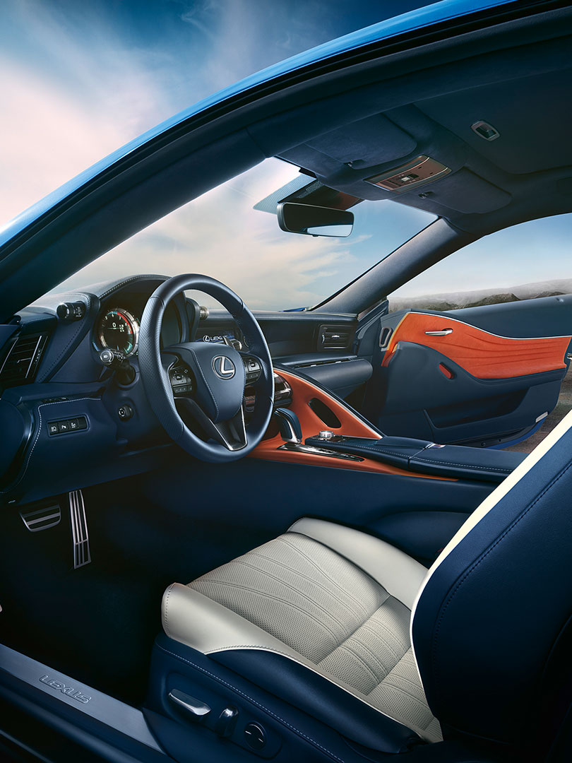 2018 lexus lc blue experience the lc