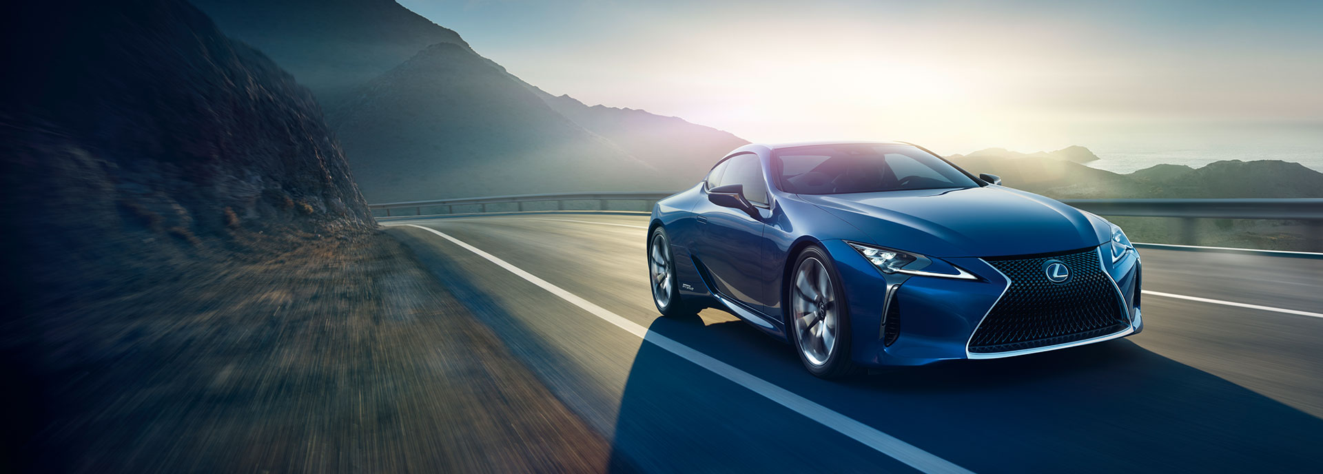 2017 lexus lc blue hero