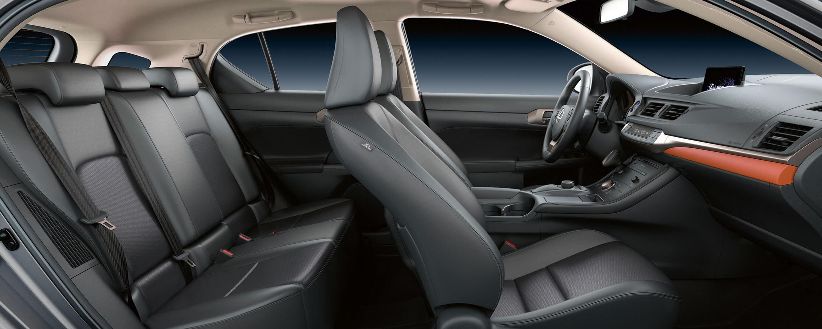 2018 lexus ct 200h my18 experience hero interior back
