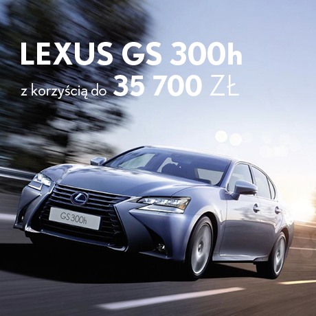 Oferta specjalna 2016 GS300h