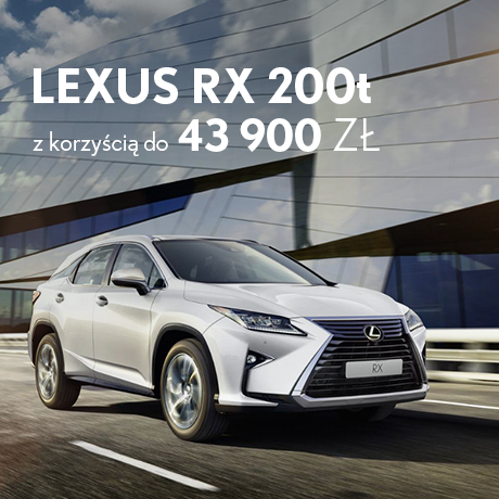 Oferta specjalna 2016 RX200t