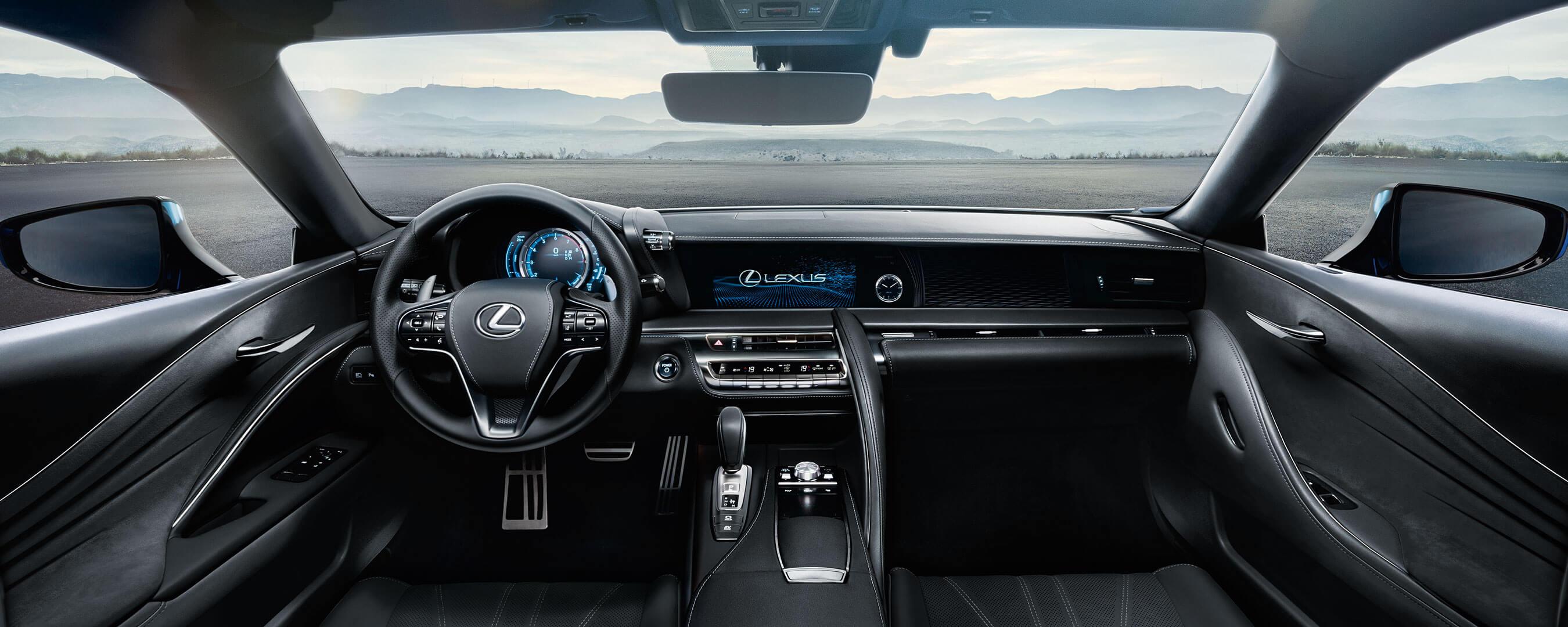 2017 lexus lc 500h experience hero interior front