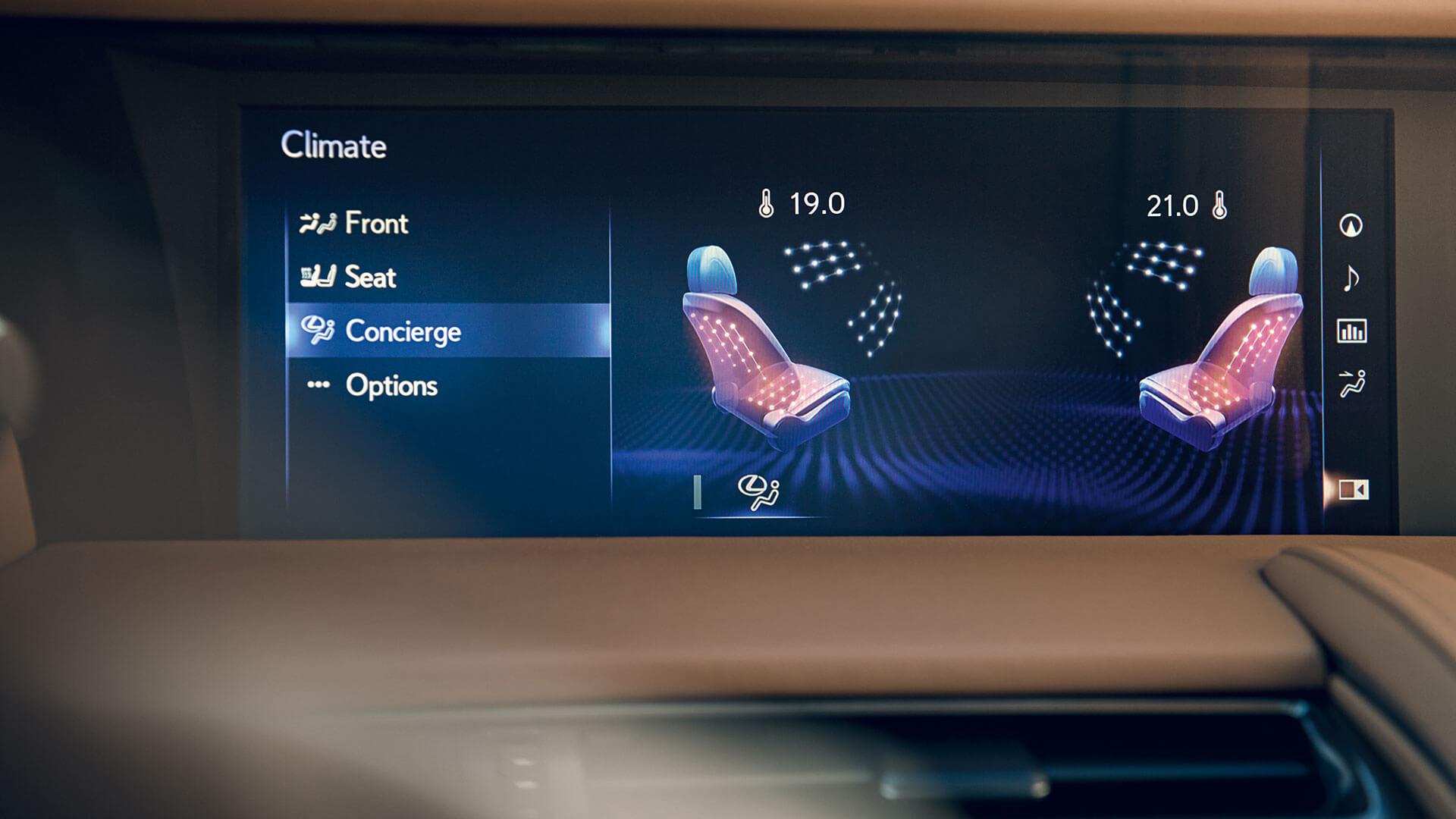 2017 lexus lc 500h features climate concierge