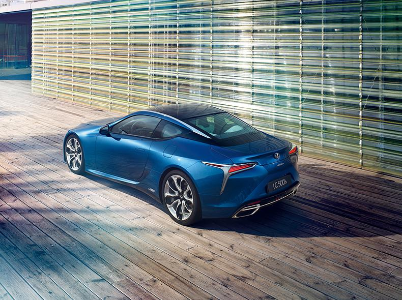 Blue Lexus LC 500h Rear Shot