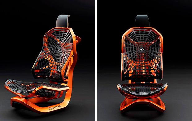 Прототип кинетического сиденья Lexus