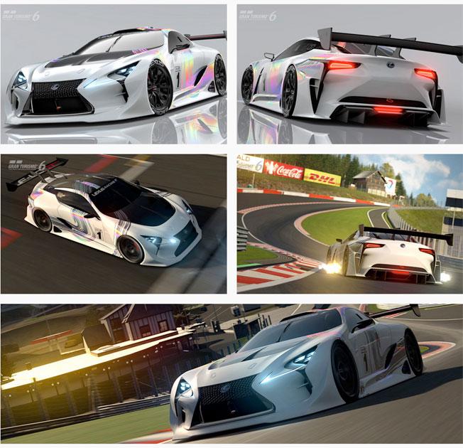 LF LC Gran Turismo text