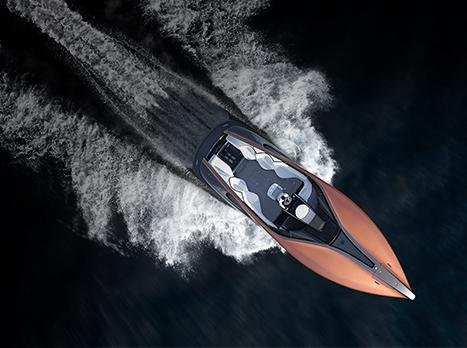Konceptbåten Lexus Sport Yacht ovanifrån