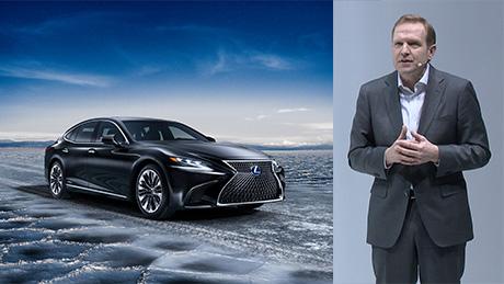 Videobild presskonferens Lexus LS 500h
