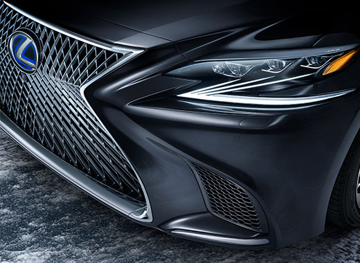 Detaljbild front Lexus LS 500h
