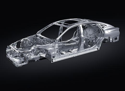 Teknisk bild av kaross Lexus LS 500