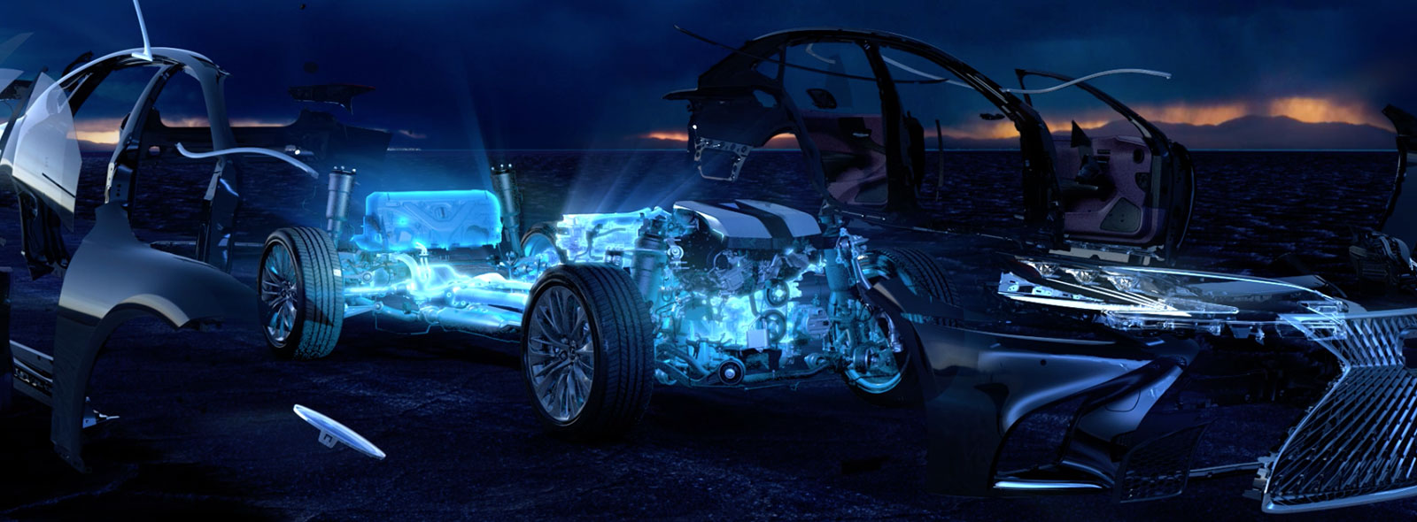 Videobild Lexus LS 500h hybridteknik