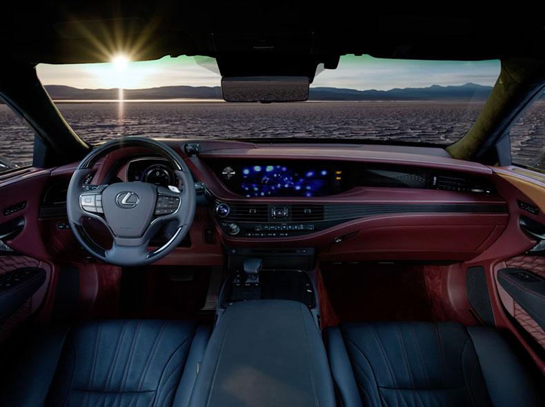 Videobild Lexus LS interiör design