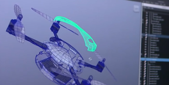 Videobild Lexus Swarm design av drönarna quadcopters
