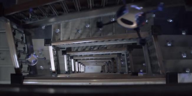 Videobild Lexus Swarm drönare quadcopter formationsflygning