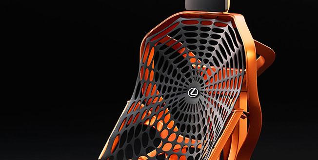 Lexus nya futuristiska bilstolskoncept Lexus Kinetic Seat Concept