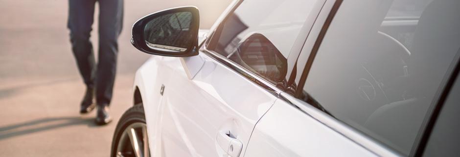 Detaljbild vit Lexus