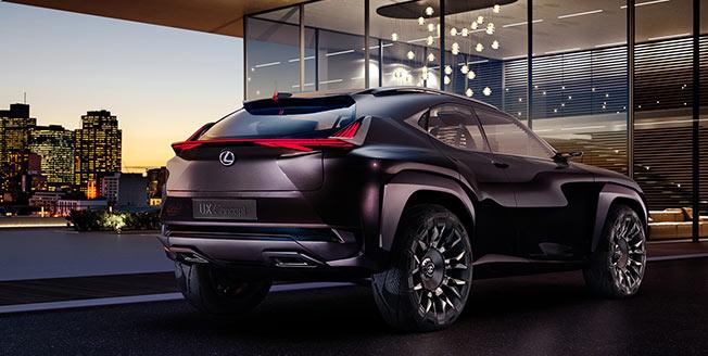 Lexus UX Concept bakifrån