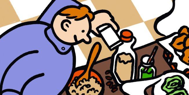 Seriefigur lagar mat