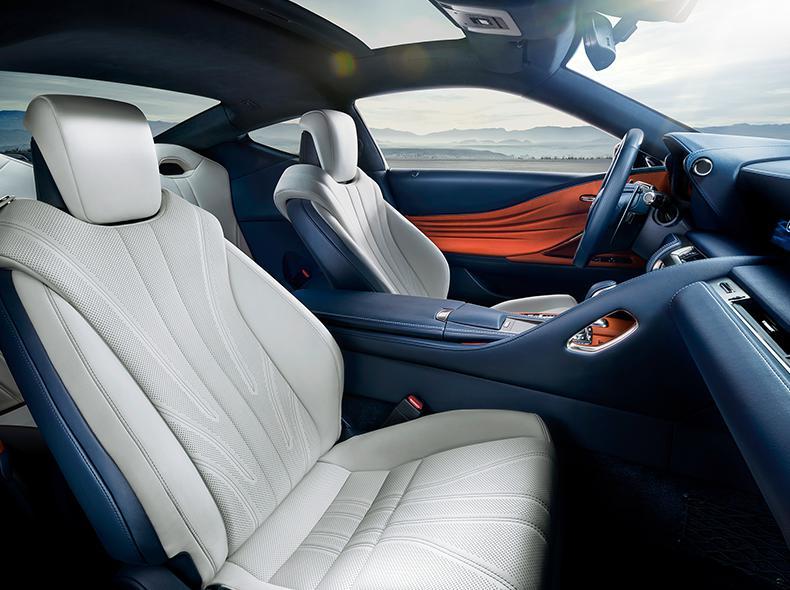 Lexus LC 500h Interior Front Seats