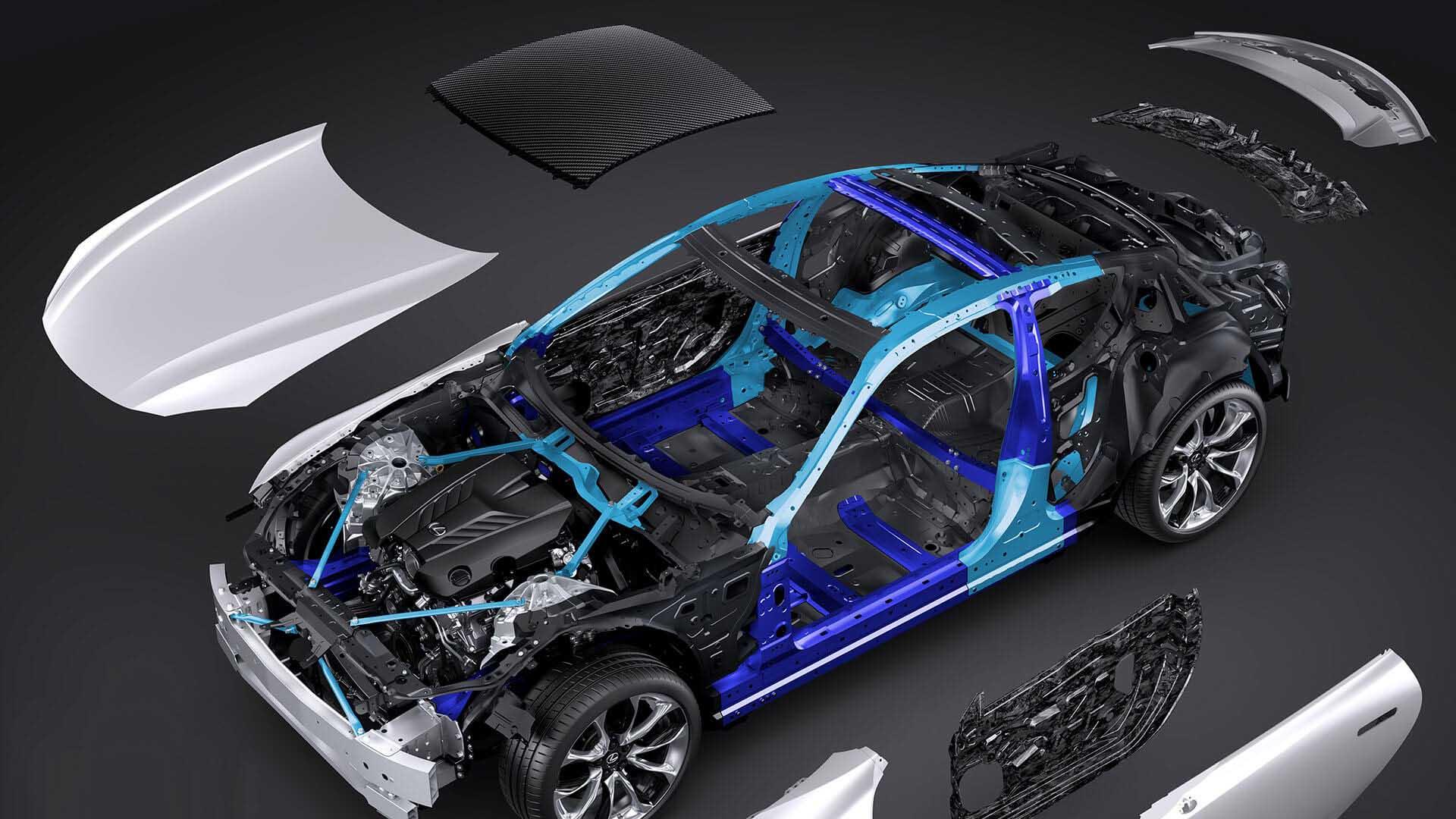 2017 lexus lc 500h features high body rigidity