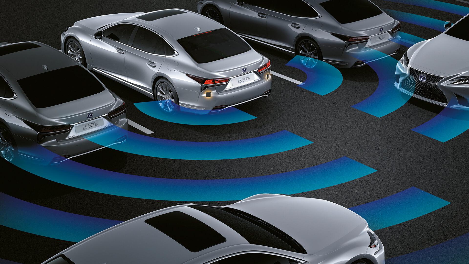 2018 lexus ls features rear cross traffic alert and braking